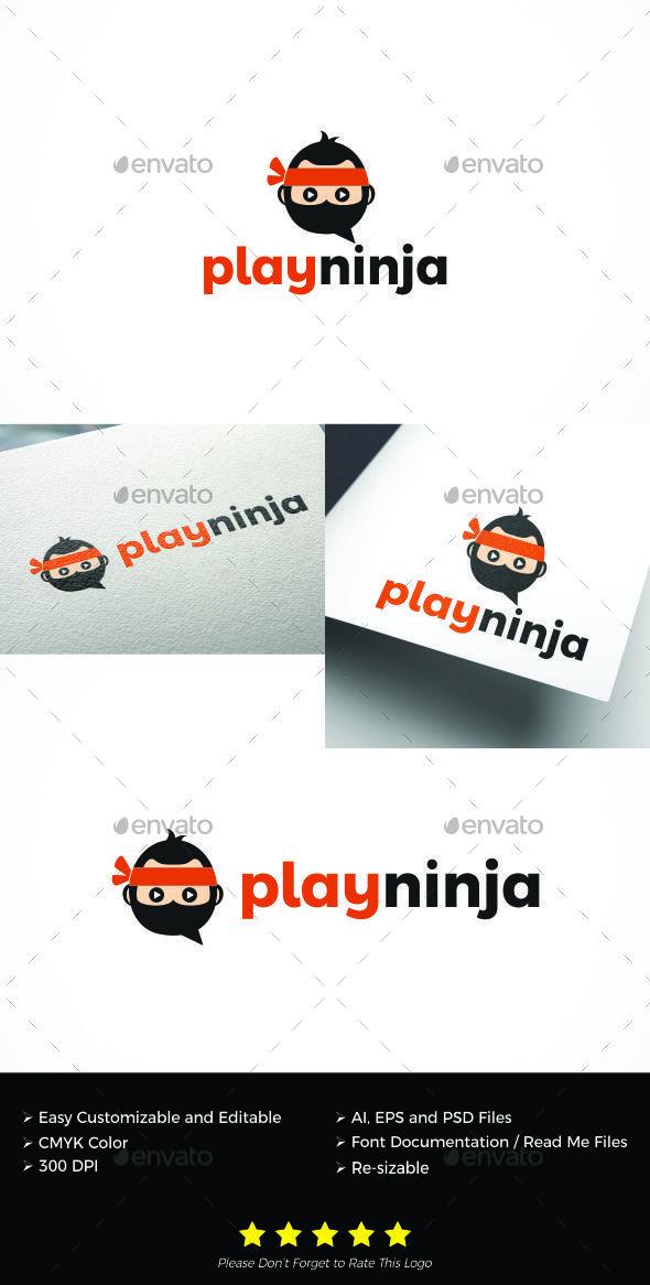 GraphicRiver Play Ninja logo 20307924