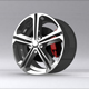 3D Sports Car RIM model - 3DOcean Item for Sale
