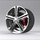 3D Sports Car RIM model