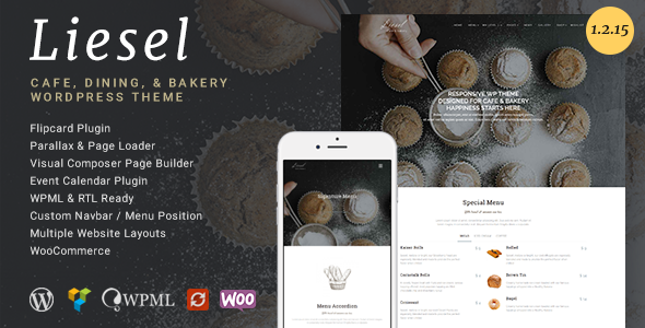 Liesel - Cafe, Dining and Bakery WordPress Theme - Restaurants & Cafes Entertainment
