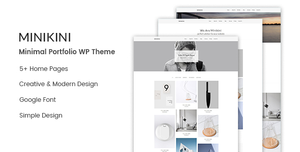 Image of Minikini - Minimal Portfolio WordPress Theme
