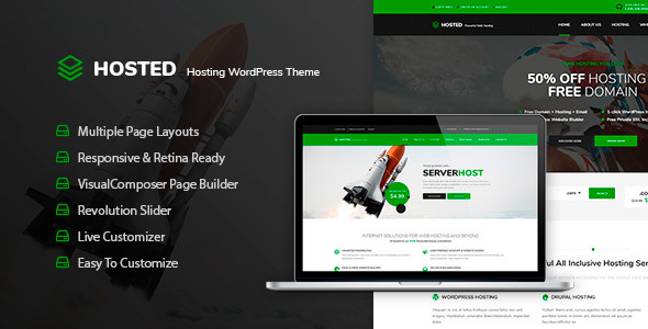 Hosted - WordPress Hosting Theme + WHMCS