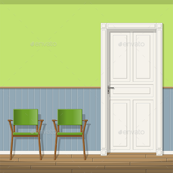 Illustration of a Waiting Room with Chairs - Miscellaneous Vectors