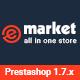 E-market - Flexible Responsive PrestaShop 1.7 Theme Nulled