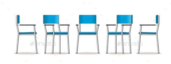 Illustration of an Chair in Different Perspectives - Miscellaneous Vectors