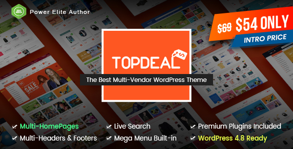 TopDeal - Multipurpose Marketplace WordPress Theme