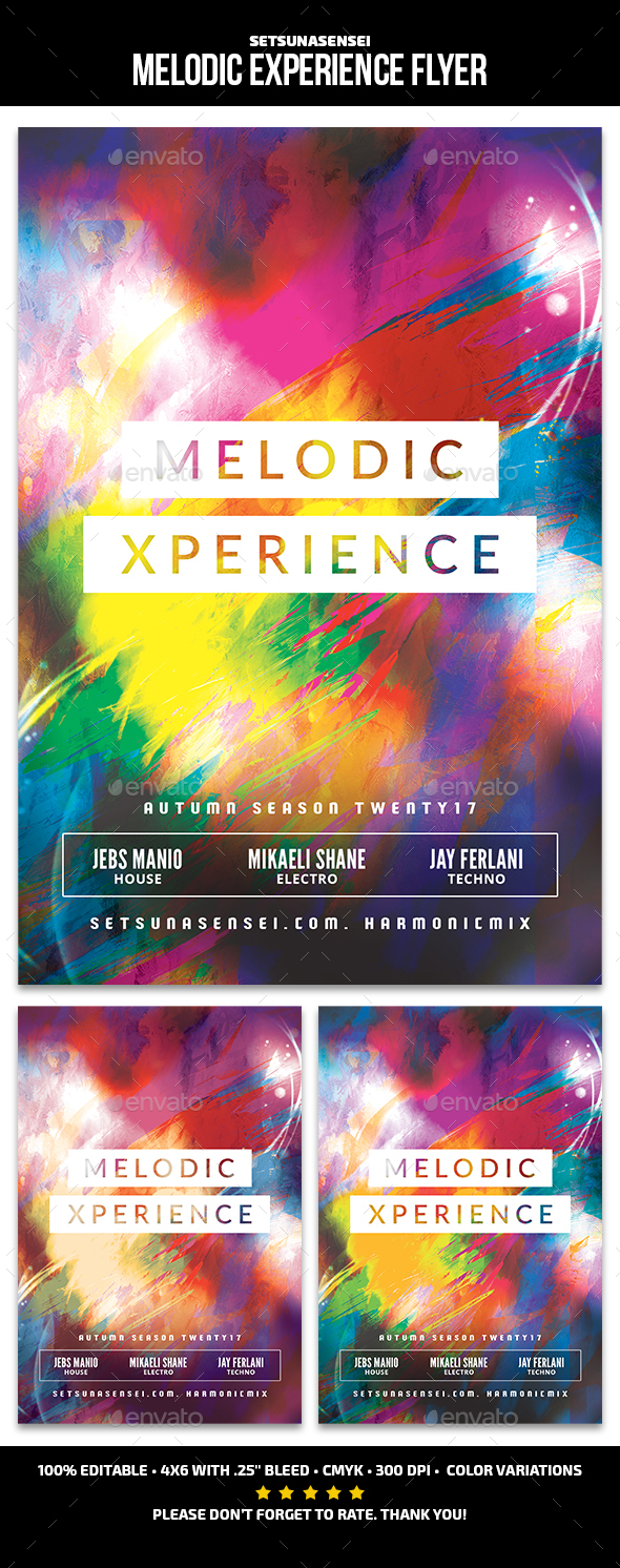 Melodic Experience Flyer - Clubs & Parties Events