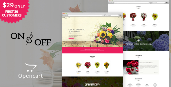 On Off - Flowers & Multipurpose OpenCart Theme