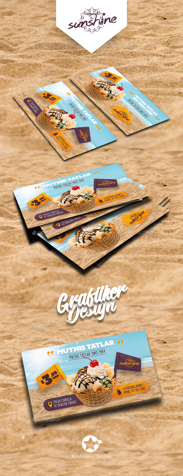 Ice Cream Business Card Templates - Corporate Business Cards