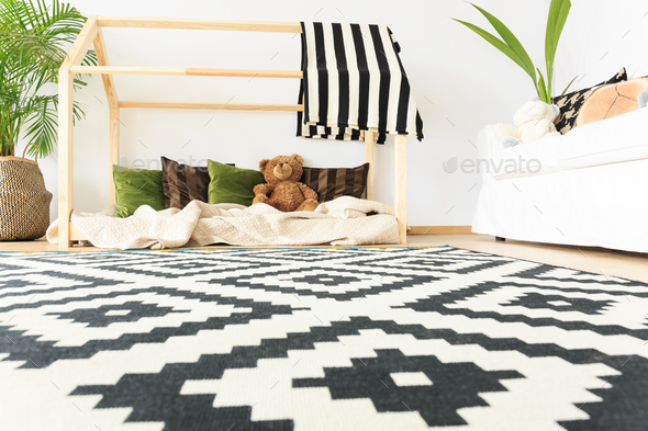 Black and white carpet - Stock Photo - Images