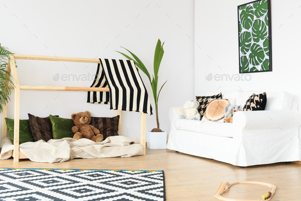 White and green room - Stock Photo - Images