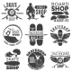 Vintage Skateboarding Shop Emblems Set