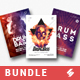 Drum and Bass Party Flyer / Poster Templates Bundle