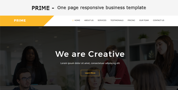 Prime - One Page Business Responsive HTML Template
