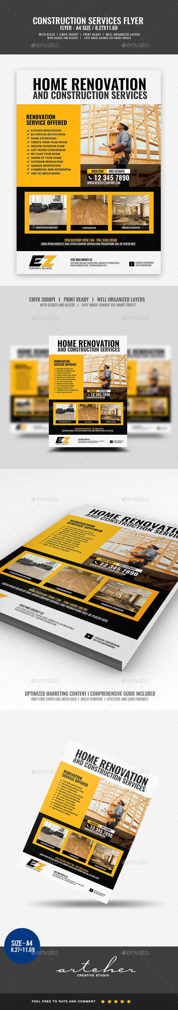 GraphicRiver Construction and Building Flyer 20316717