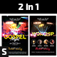 Gospel Night & Worship Renewal Church Flyers - GraphicRiver Item for Sale