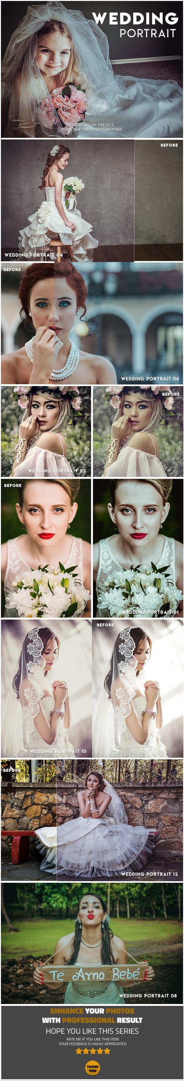 13 Wedding Portrait Lightroom Presets - Lightroom Presets Add-ons