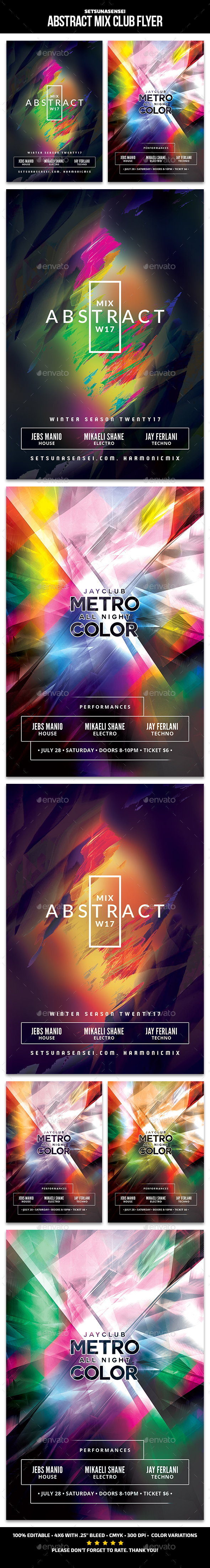 Abstract Mix Club Flyer - Clubs & Parties Events
