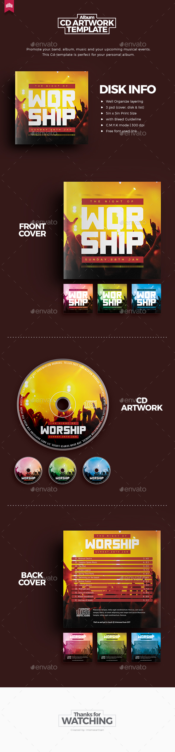 GraphicRiver Worship Cd Artwork 20317056