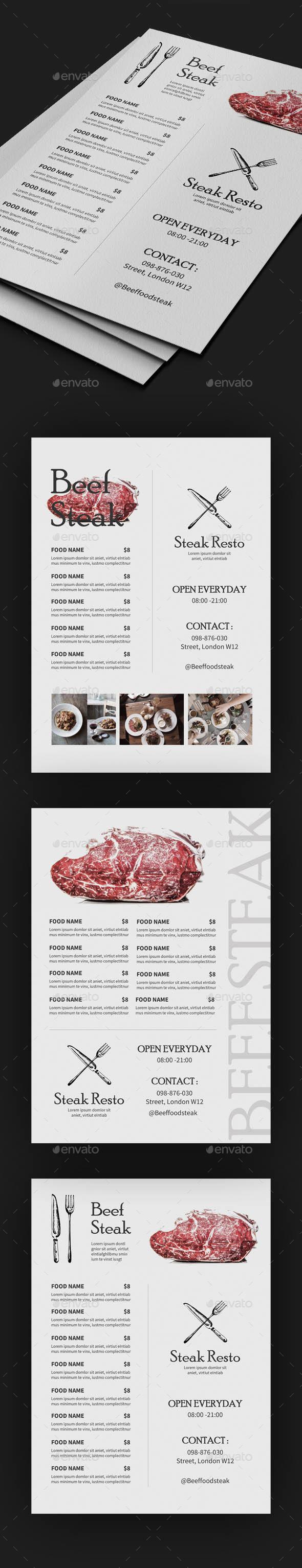 GraphicRiver Vintage Food Menus 20317083