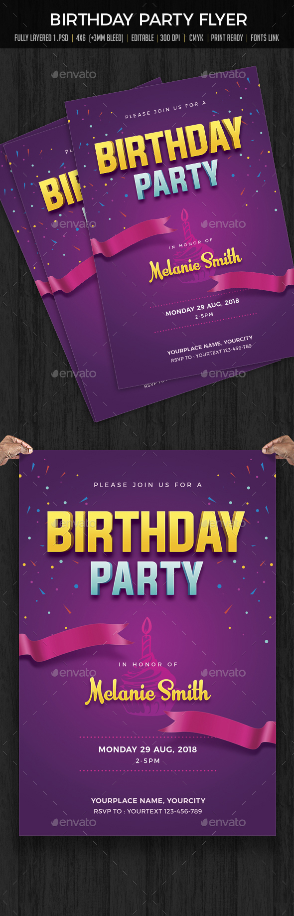 GraphicRiver Birthday Party Flyer 20317141