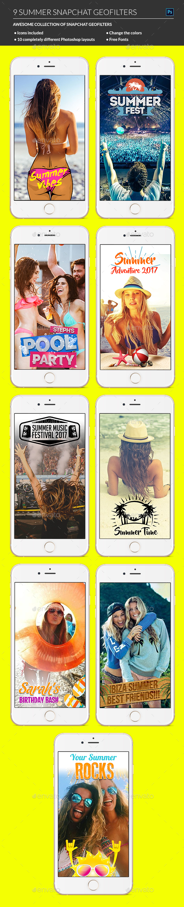 Summer Snapchat Geofilters - Miscellaneous Social Media