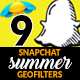 Summer Snapchat Geofilters - GraphicRiver Item for Sale