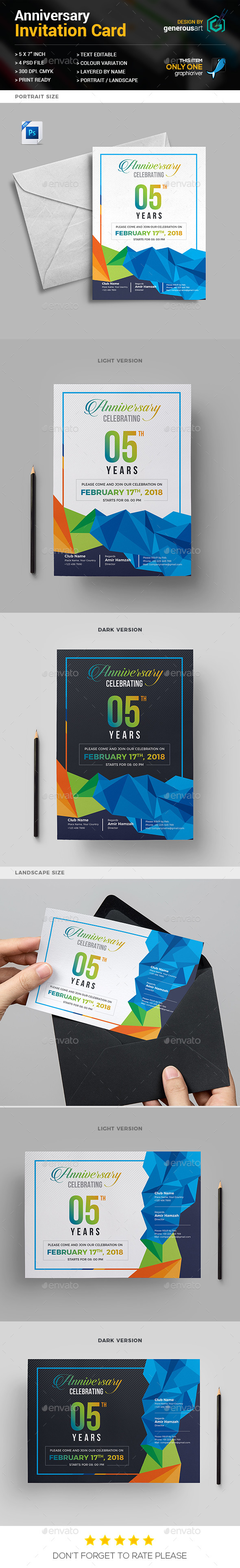 Anniversary Invitation - Anniversary Greeting Cards