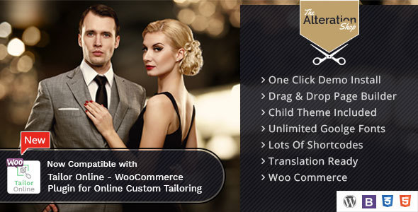 Alteration Shop - WordPress WooCommerce Theme for Tailors and Shops - Fashion Retail