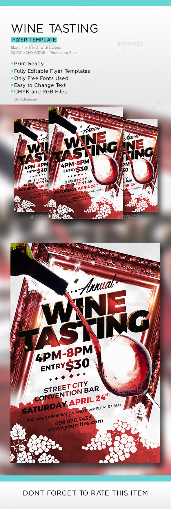 Wine Flyer - Flyers Print Templates