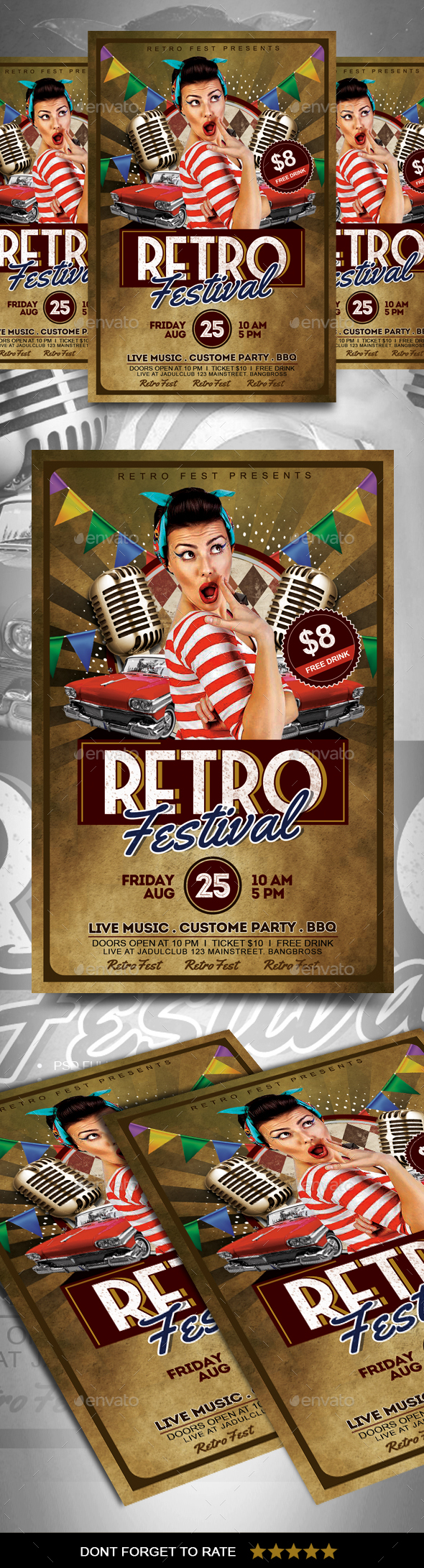 Retro Flyer - Events Flyers