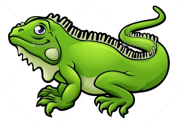 GraphicRiver Iguana Lizard Cartoon Character 20317493