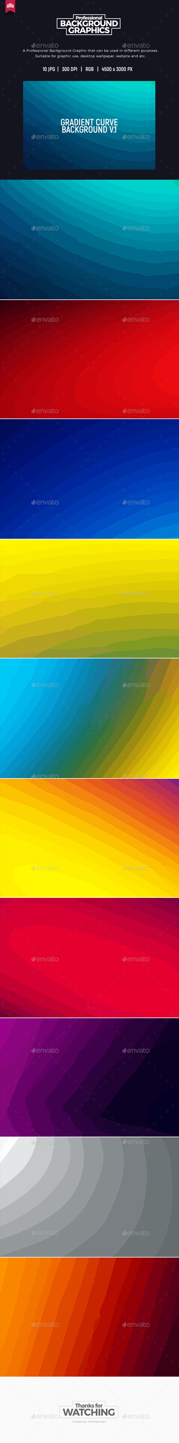 Gradient Curve V.1 - Background - Abstract Backgrounds