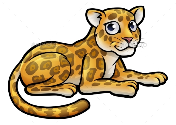 GraphicRiver Leopard or Jaguar Cartoon 20317497