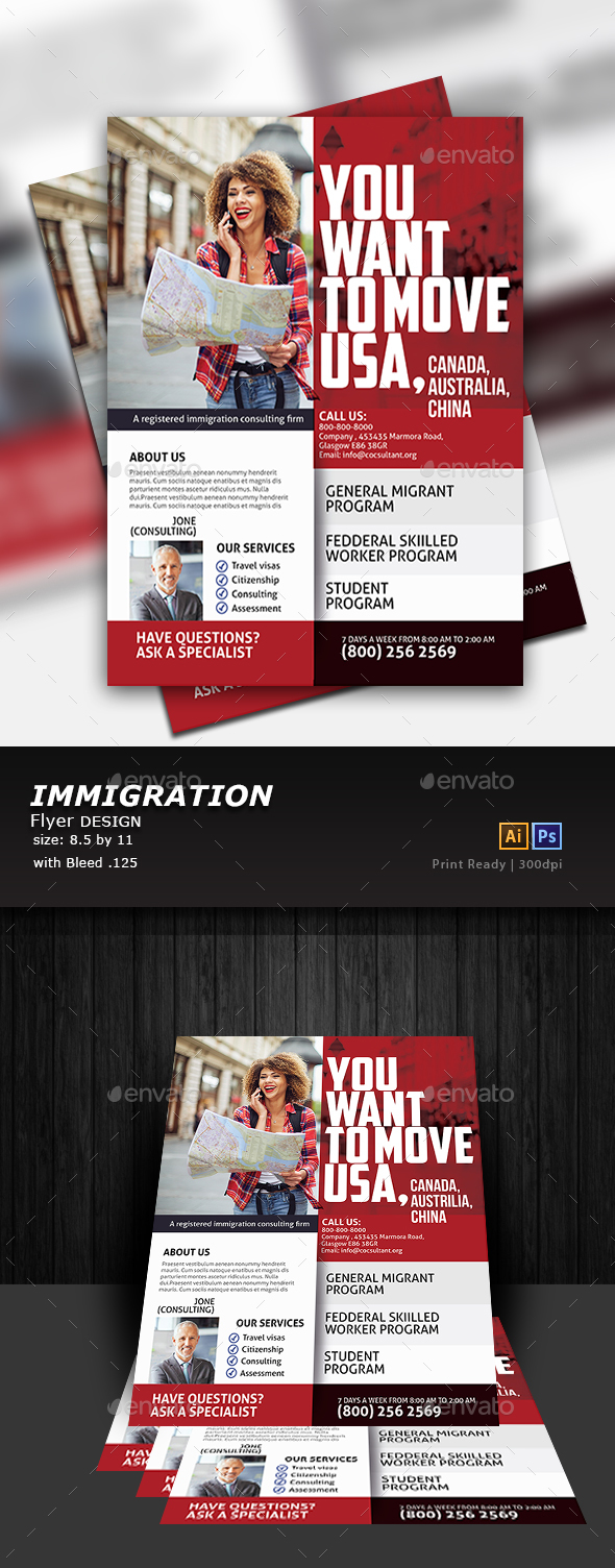 Immigration Flyer - Flyers Print Templates