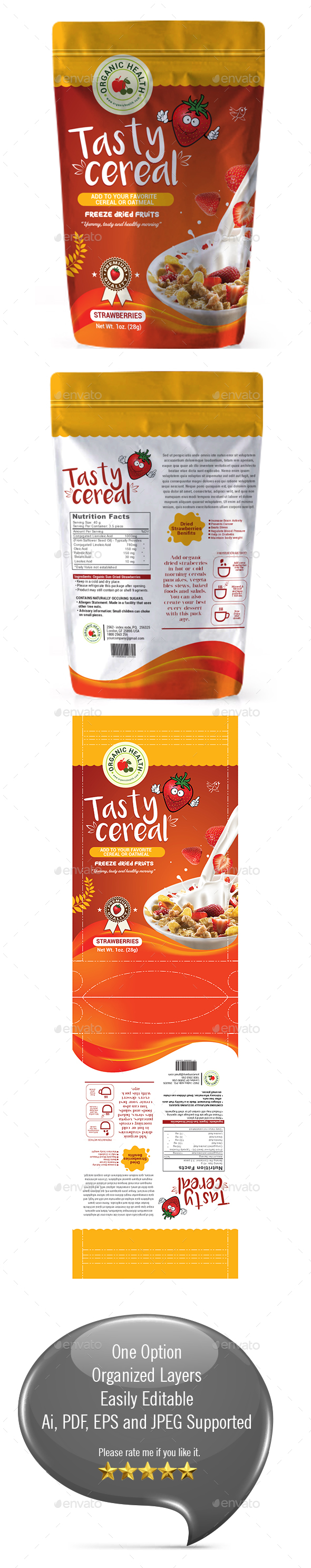GraphicRiver Cereal Dried Fruits packaging Template 20317637