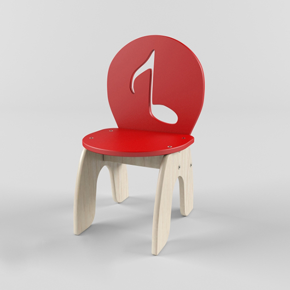 Vray Ready Modern Wood Chair - 3DOcean Item for Sale