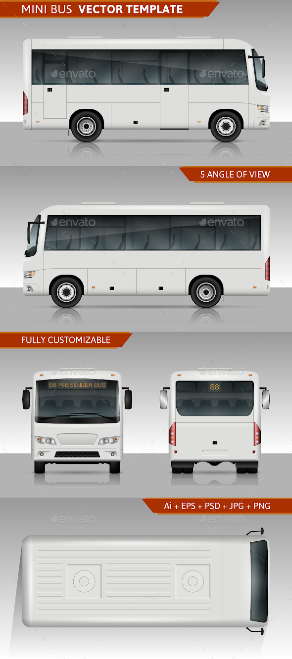 Mini Bus Vector Template