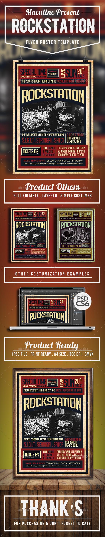 Rockstation Flyer/Poster Vol.4 - Concerts Events