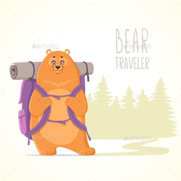 Bear Traveler - Animals Characters