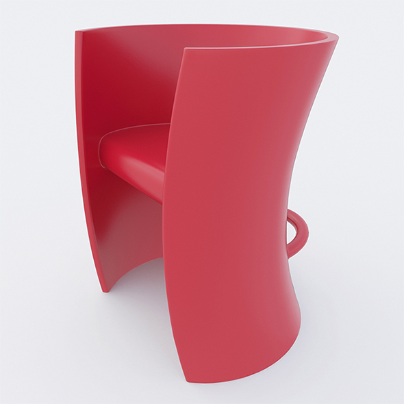 3DOcean Vray Ready Modern Plastic Chair 20317760