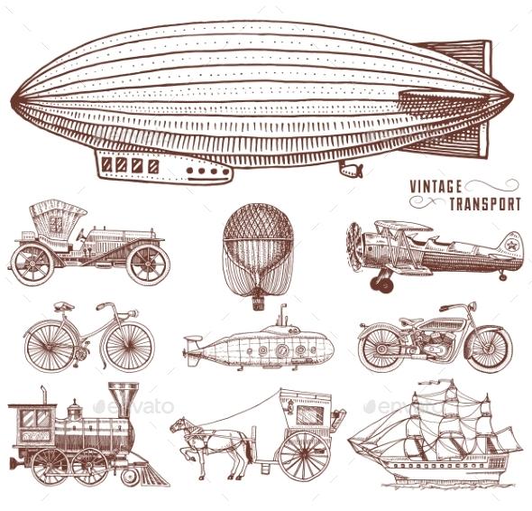 Vintage Transportation - Miscellaneous Vectors