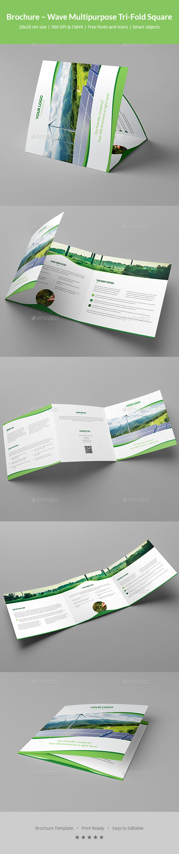 Brochure – Wave Multipurpose Tri-Fold Square - Corporate Brochures