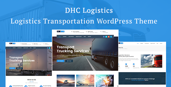 DHC | Logistics Transportation WordPress Theme - Business Corporate