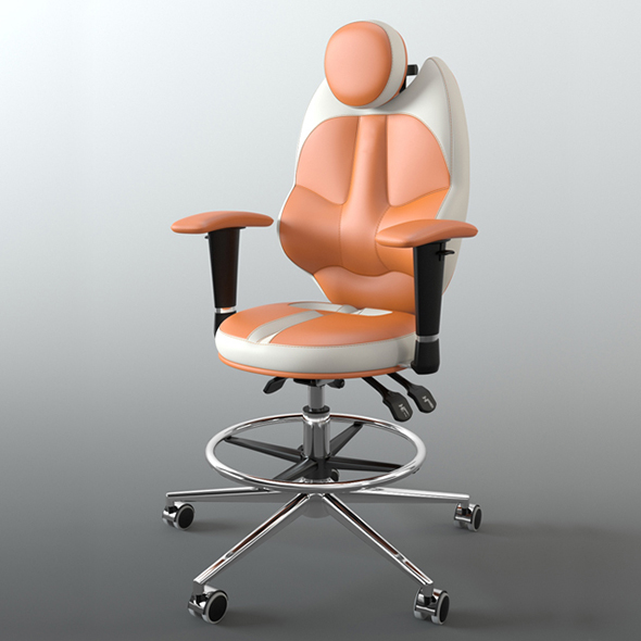 Vray Ready Luxury Revolving Chair - 3DOcean Item for Sale