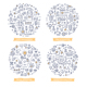 Marketing Automation Doodle Illustrations Set 2