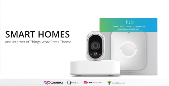 Smart Home - Internet of Things  Home Automation WordPress Theme - Technology WordPress