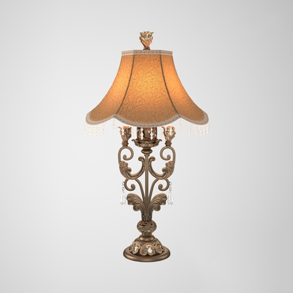 Vray Ready Matellic Table Lamp - 3DOcean Item for Sale