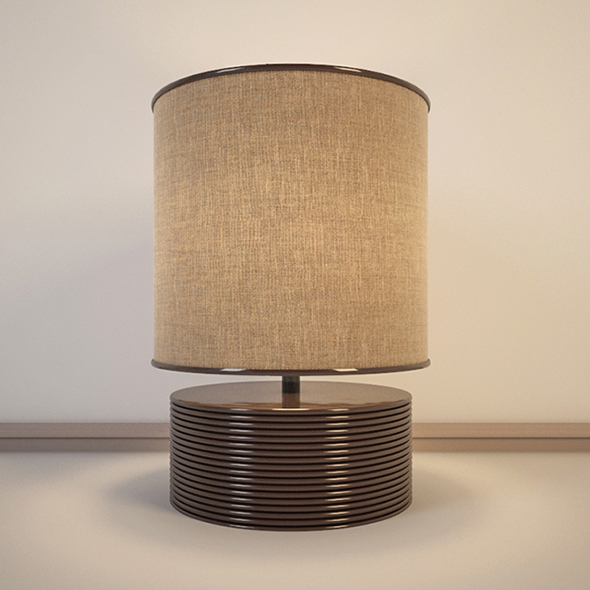 Vray Ready Modern Table Lamp - 3DOcean Item for Sale