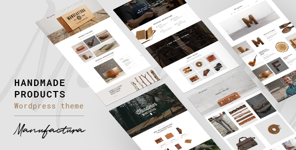 ThemeForest Manufactura Handmade Products WordPress Theme 20318078